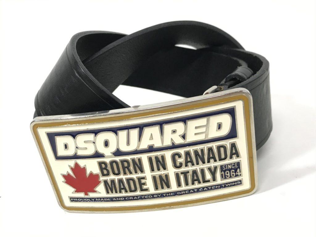 Dsquared2 ロゴバックル レザーベルト 買い取りました!