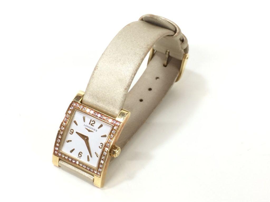LONGINES ロンジン ダイヤベゼル 腕時計 L5 185 7 K18買い取りました!