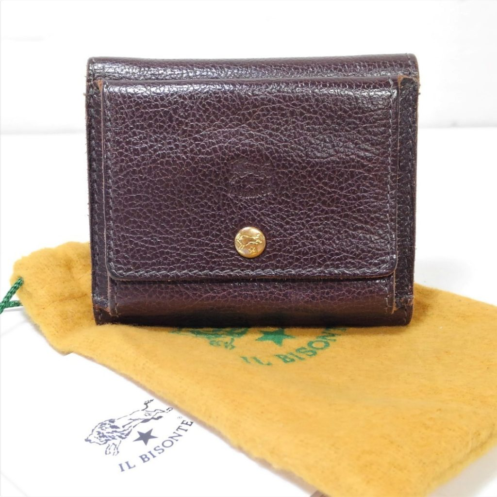 IL BISONTE イルビゾンテ 3つ折り財布 ブラウン買い取りました!