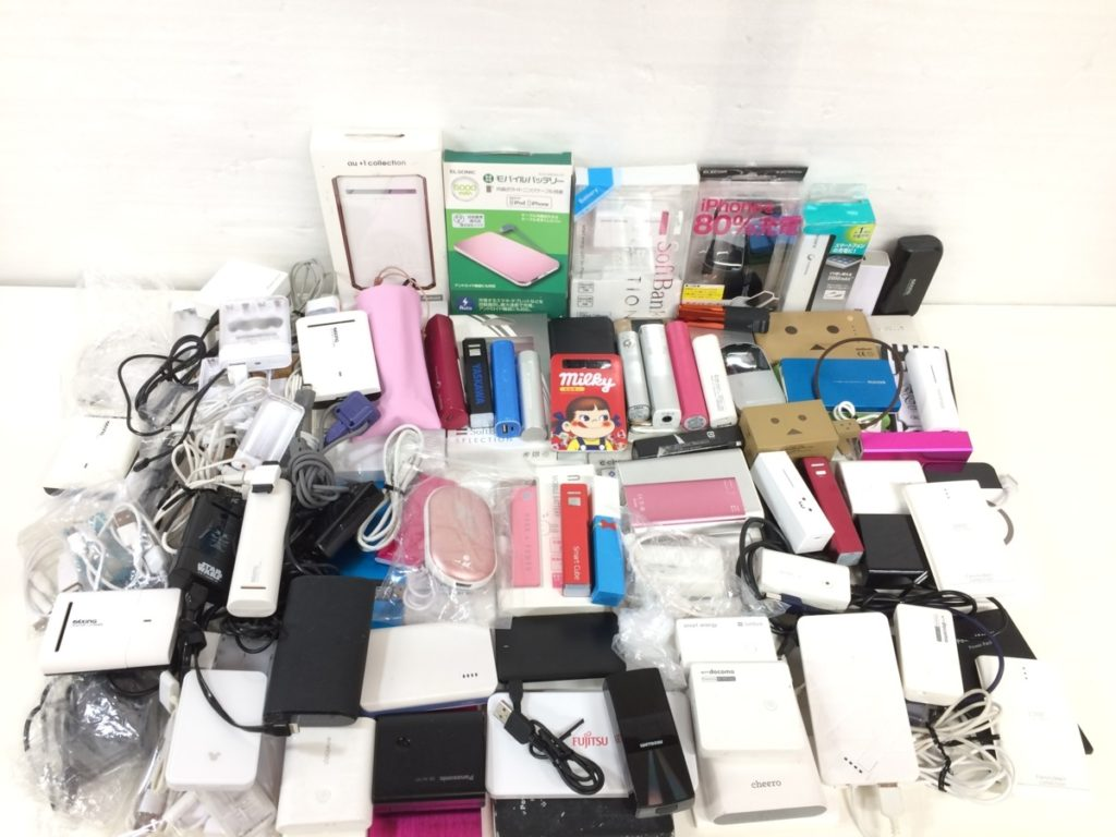 モバイルバッテリー大量品買い取りました!