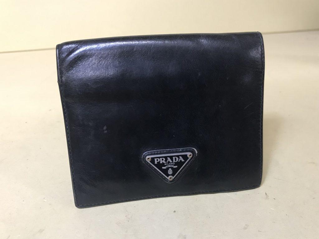 PRADA プラダ レザー 2つ折り財布 本革 買い取りました!